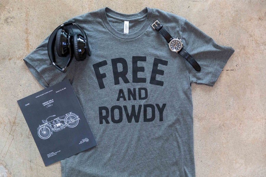 Free and Rowdy - Heather Grey Tee