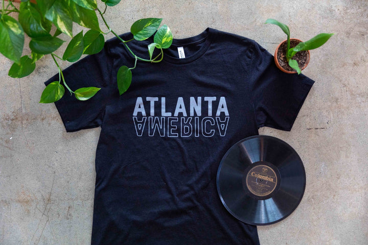 Atlanta Reflects America - Heather Black Tee
