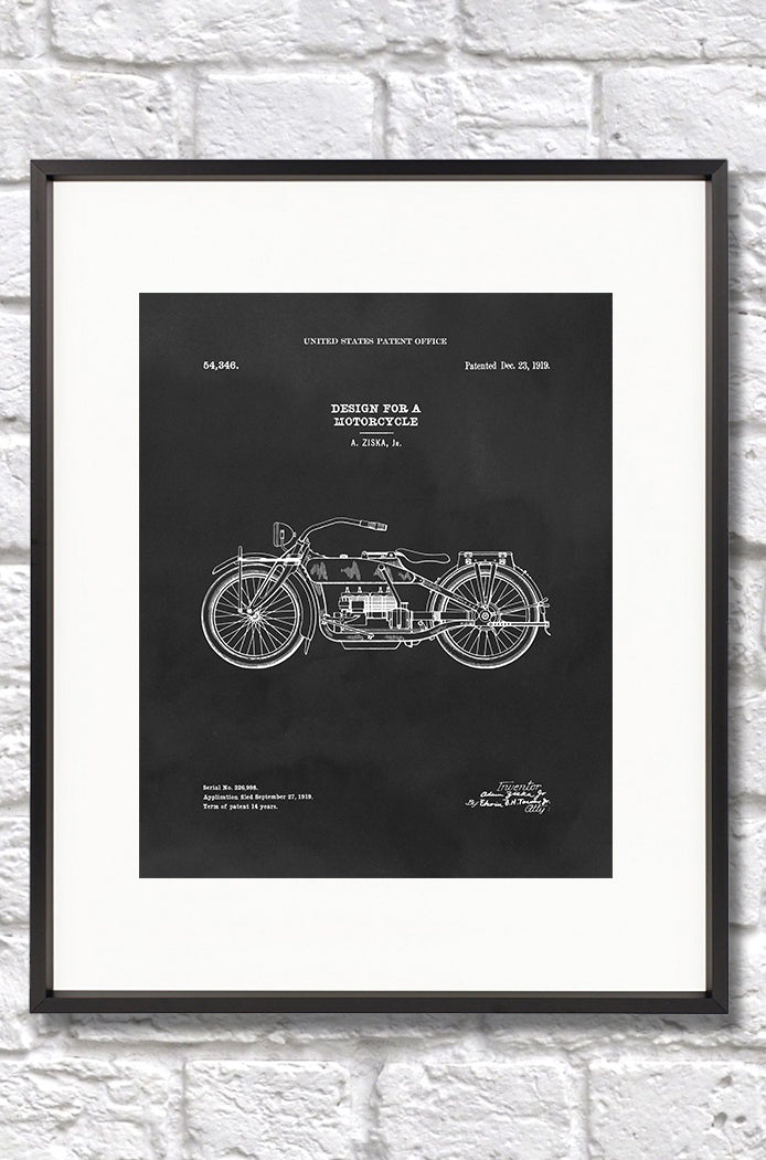 Motorcycle Patent - 8x10 Print