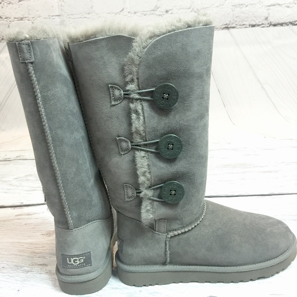UGG BAILEY BUTTON TRIPLET GREY - decadenceboutique