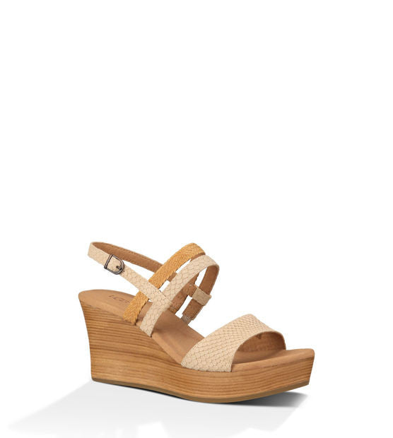UGG LIRA MAR WEDGE IN PEARL - decadenceboutique - 1