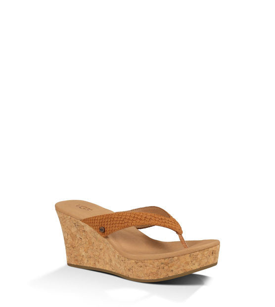 UGG NATASSIA CHESTNUT WEDGES - decadenceboutique - 1