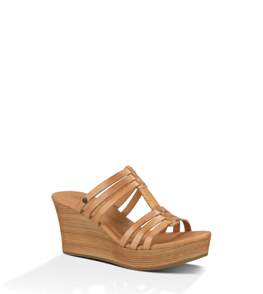 UGG MATTIE WEDGE IN SUNTAN - decadenceboutique - 1