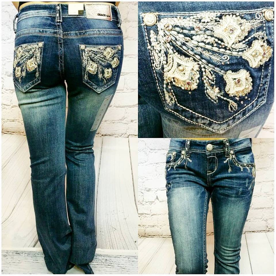 GRACE IN L.A. LA JOLLA BOOTCUT JEANS - decadenceboutique