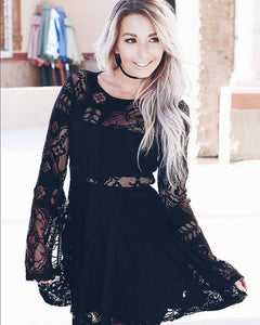 MAKE YOU MISS ME LACE DRESS IN BLACK - decadenceboutique - 1