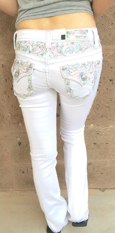 GRACE IN L.A ENCHANTED DREAM BOOTCUT JEANS