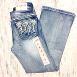 GRACE IN L.A. LITTLE GIRLS SPRING ARROW BOOTCUT JEANS - decadenceboutique - 2