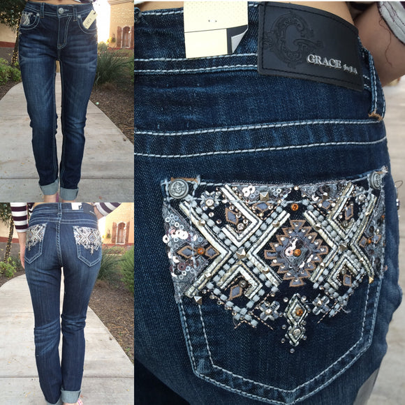 GRACE IN L.A. TERRITORY EASY SKINNY JEANS - decadenceboutique