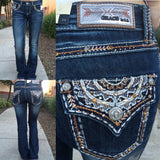 GRACE IN L.A. MOUNTAIN RIDGE BOOTCUT JEANS - decadenceboutique