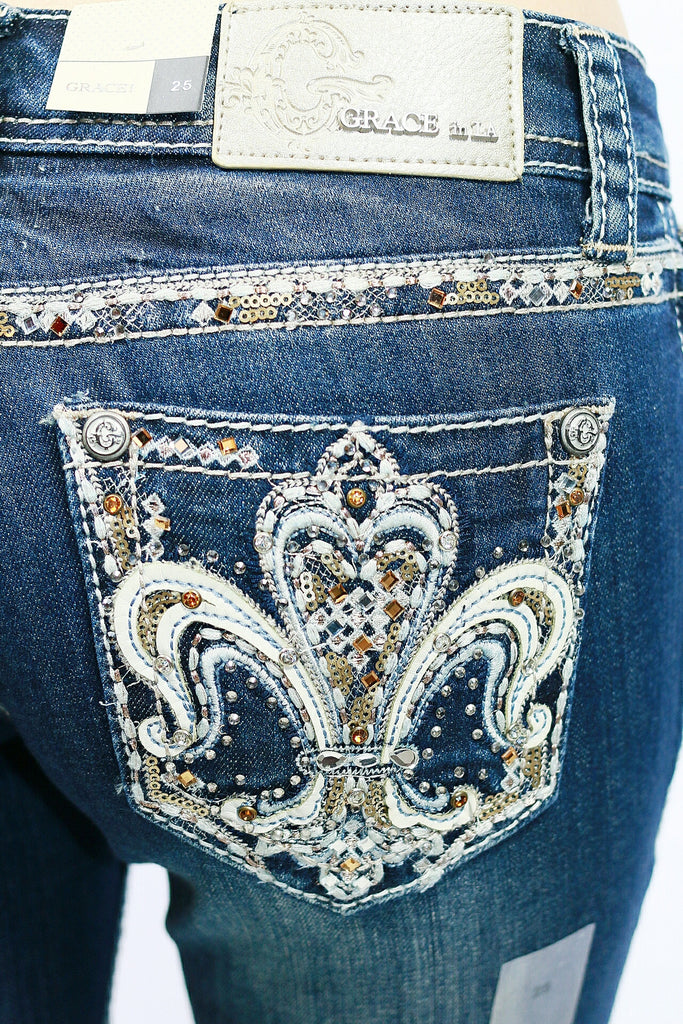 GRACE IN L.A FLORENCE BOOTCUT JEANS - decadenceboutique - 1