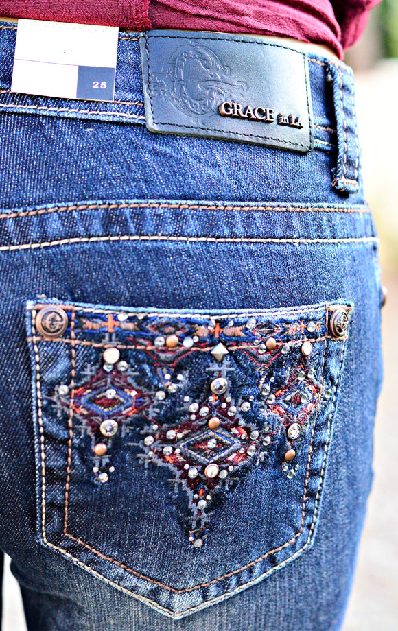 GRACE IN L.A. ROCKY MOUNTAIN EASY BOOTCUT JEANS - decadenceboutique - 1