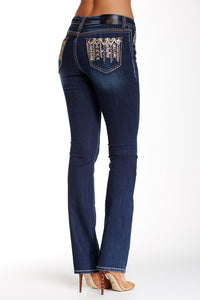GRACE IN L.A. SEQUIN ARROW EASY BOOTCUT JEANS - decadenceboutique - 1