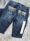 MISS ME MY8757B3V MID RISE BOOT JEANS