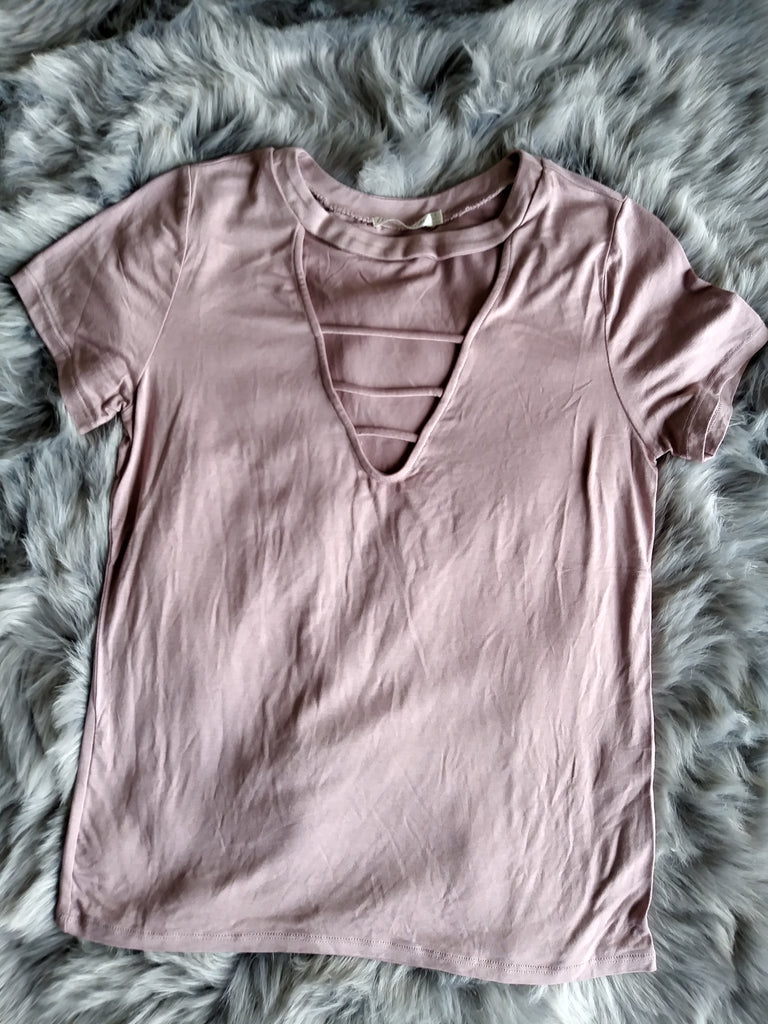 LOVE OR LUST TOP IN MAUVE