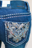 GRACE IN L.A. BRONZE MEDALLION BOOTCUT JEANS - decadenceboutique - 1