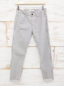 JOE'S SKINNY ANKLE HAMPTON STRIPE JEANS