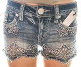 GRACE IN L.A. SERINDIPITY CUTOFF HIGHWAISTED SHORTS - decadenceboutique - 1
