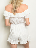 Got My Attention Romper In White