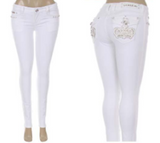 L.A. IDOL ROYALTY WHITE SKINNY JEANS