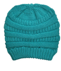 BLIZZARD BEANIE IN TEAL
