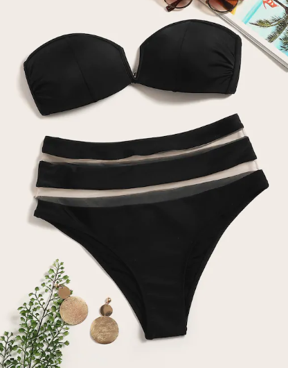 Back in Black Bikini set