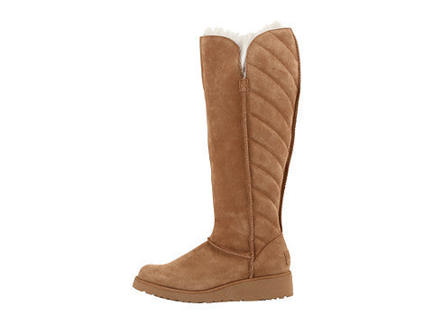 UGG ROSALIND TALL BOOTS IN CHESTNUT