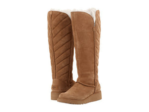 UGG ROSALIND TALL BOOTS IN CHESTNUT - decadenceboutique - 1