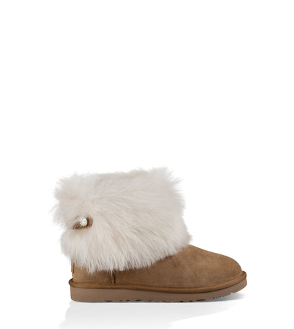 UGG VALENTINA SHORT BOOTS IN CHESTNUT