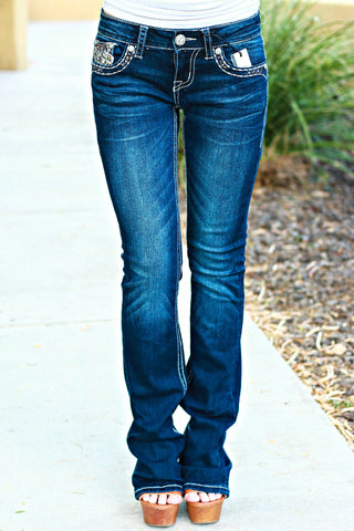 GRACE IN L.A. HIGH SOCIETY BOOTCUT JEANS