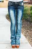GRACE IN L.A. CLOVER BOOTCUT JEANS - decadenceboutique - 2