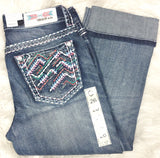 GRACE IN L.A ROCKY POINT EASY CAPRI JEANS - decadenceboutique