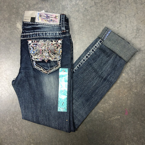 GRACE IN L.A. LITTLE GIRLS DESERT MOONLIGHT BOOTCUT JEANS