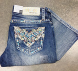 GRACE IN L.A. ARIZONA TRAILS BOOTCUT JEANS - decadenceboutique - 3