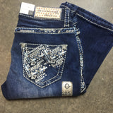 GRACE IN L.A. SNOW TRACKS BOOTCUT JEANS - decadenceboutique