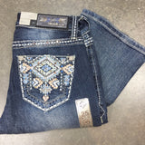 GRACE IN L.A. FOSSIL CREEK BOOTCUT JEANS - decadenceboutique - 4