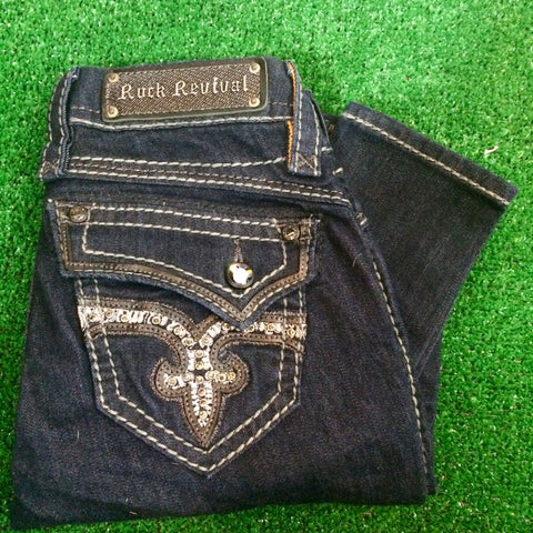 ROCK REVIVAL KAILYN S201 SKINNY JEANS