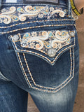 GRACE IN L.A LET IT FLOW EASY BOOTCUT JEANS - decadenceboutique - 1