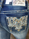 GRACE IN L.A DREAMING IN THE DESERT EASY BOOTCUT JEANS - decadenceboutique - 1