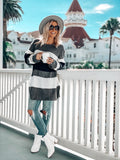 WINTER STORM KNIT COLOR BLOCK SWEATER