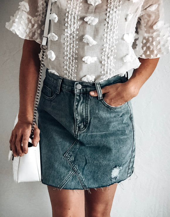 What A Catch Denim Skirt
