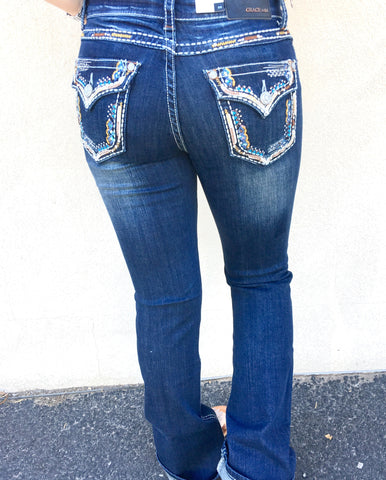 GRACE IN L.A. SIMPLY WESTERN EASY BOOTCUT JEANS