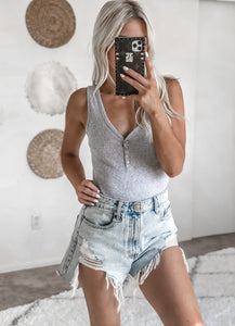 STAYING IN BODYSUIT IN GREY