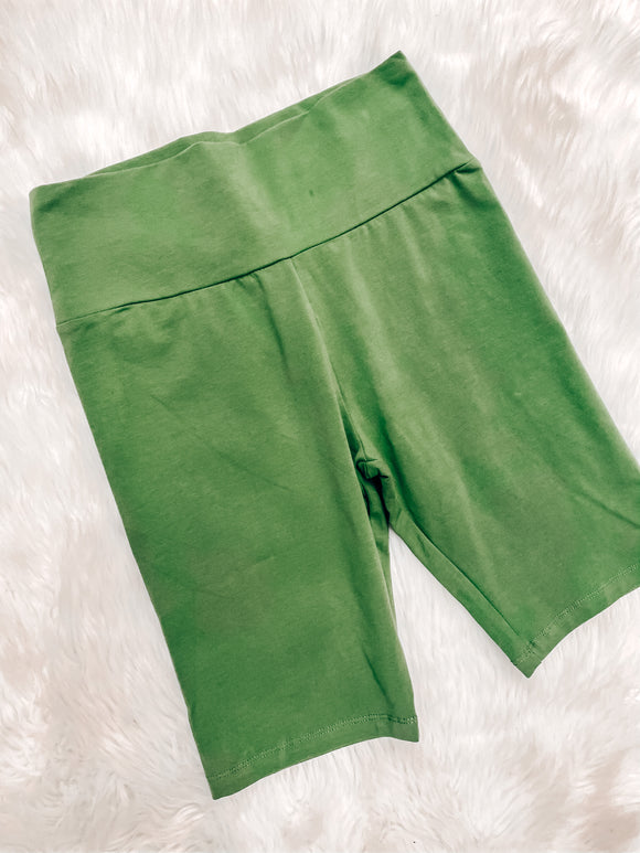 Chasing the Day Biker shorts Green