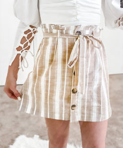 CATALINA STRIPED BUTTON UP SKIRT