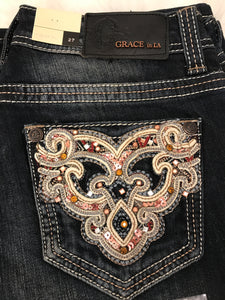 GRACE IN L.A VERSAILLES BOOTCUT JEANS