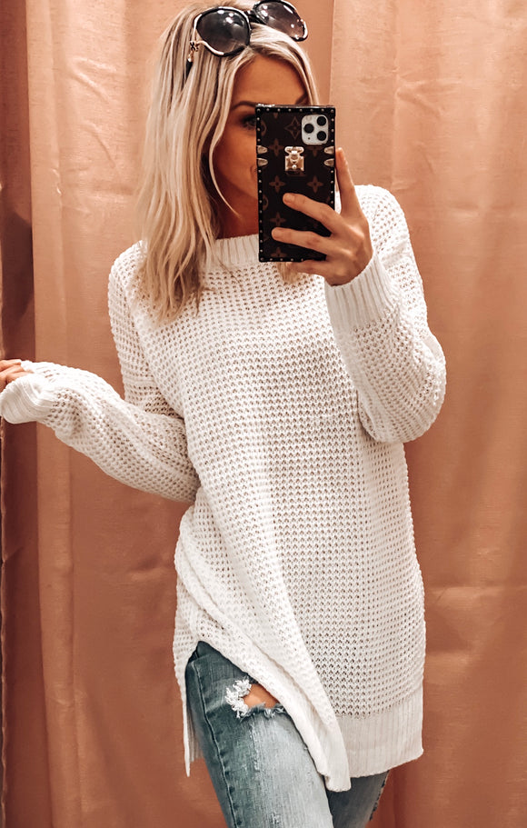 SNUGGLE UP CLOSE OVERSIZED SWEATER IN CREAM