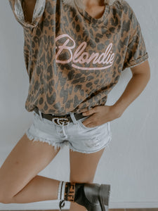 LEOPARD BLONDIE ROCK TEE