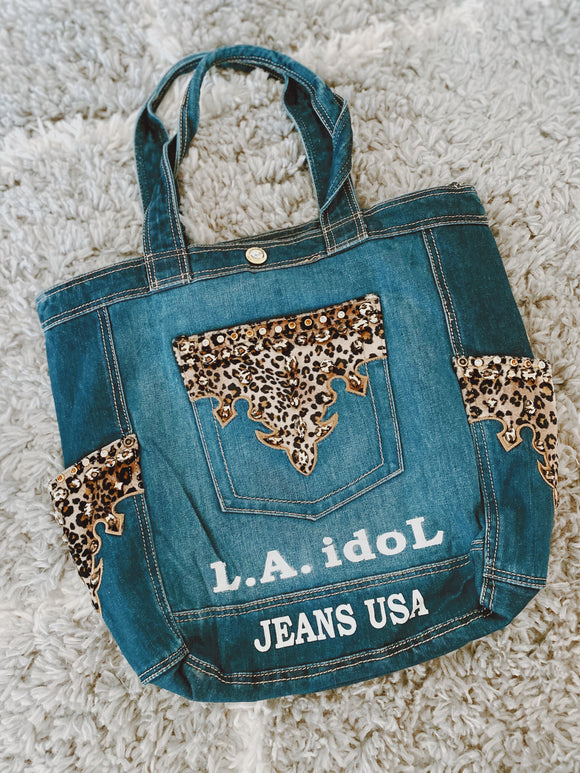 L.A. Idol Denim tote Bag