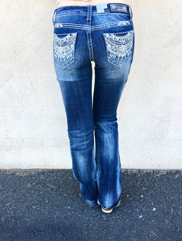 GRACE IN L.A. MYAN MYTHS BOOTCUT JEANS