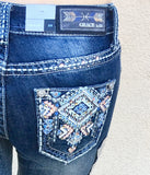 GRACE IN L.A. FOSSIL CREEK BOOTCUT JEANS - decadenceboutique - 1